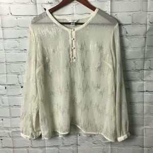 Christopher & Banks Ivory Blouse